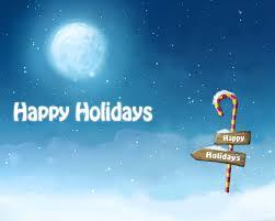 happy holidays screensaver