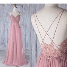 dusty wedding dress bridesmaid dress dusty v neck wedding dressspaghetti
