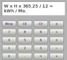 formula for kwh calculator go green in your home