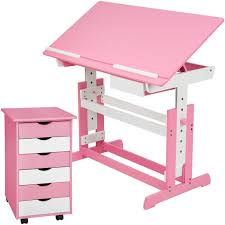 Kinderschreibtisch Kinderschreibtisch Pink Höhenverstellbarer Schreibtisch