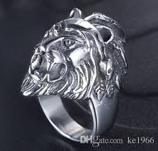 acrylic lion ring holder images 316 stainless steel fashion new design lion king mens ring band jpg