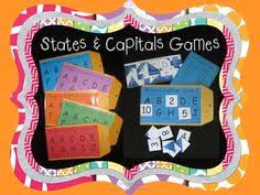 complete a state capital crossword worksheets social studies