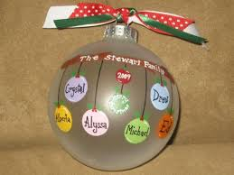 personalized family ornaments glass by overtheedgeornaments
