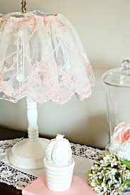diy shabby chic lamp update
