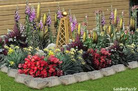 flower bed gardenpuzzle online garden planning tool flower bed