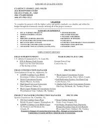 Assistant Project Manager Construction Resume by Management Qualifications For Resume Free Resume Example And