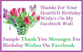 Samples Of Birthday Wishes Thank You Messages Sample Thank You Messages For Birthday