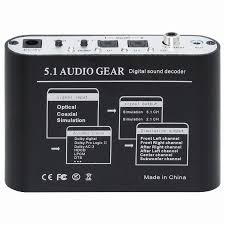 home theater with spdif input quality 5 1 audio gear digital sound decoder converter optical