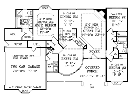 Victorian Floorplans Victorian Style House Plan 3 Beds 2 50 Baths 1466 Sq Ft Plan 456 16