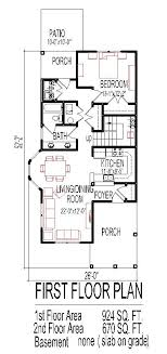 narrow house floor plans opulent design ideas small narrow house floor plans 14 2 story 4