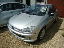used peugeot 206 used peugeot 206 cc convertible 1 6 16v quiksilver 2dr in royston