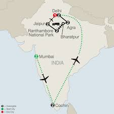 Jaipur India Map by Southern India Tour Globus Escorted Tours