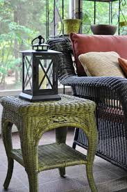 Spray Paint Wicker Patio Furniture - remodelaholic fabulous finish wicker table revamped guest post