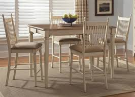 Counter Height Dining Room Chairs Cove 5 Counter Height Dining Set In Distressed Weathered