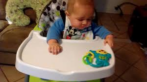 Evenflo Fold High Chair by Baby Enjoying His New Evenflo High Chair Youtube