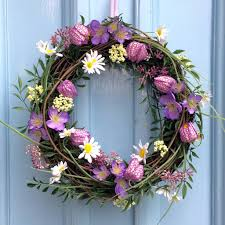 flower wreath fritillaria mixed flowers wreath tutti decor ltd