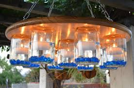 Mason Jar Lights Outdoor by Outdoor Candle Chandelier Home Design By Fuller