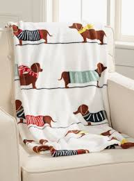 chic dachshund dog throw 130 x 180 cm accessories online