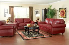 Delightful Red Leather Living Room Furniture Appealing Sofa - Red leather living room set