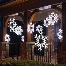 lighted snowflakes outdoor snowflakes stars snowflake lighted