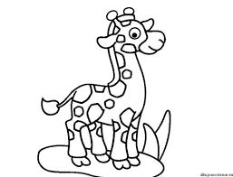 imagenes de jirafas bebes animadas para colorear jirafas