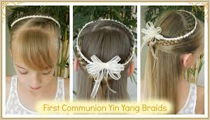 cute hairstyles for first communion best first communion yin yang braids 4 different accesories