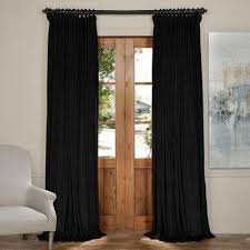 Black Curtains 90 X 54 Curtains U0026 Drapes Window Treatments The Home Depot