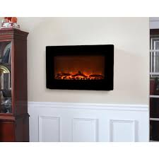 30 in wall mount electric fireplace