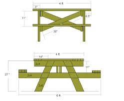 handymanwire 4 ft sq picnic table plans