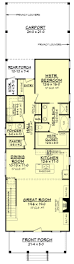 House Plans With Kitchen In Front Cottage Style House Plan 4 Beds 2 50 Baths 2184 Sq Ft Plan 430 117