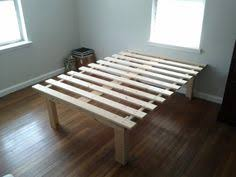 Diy Platform Bed Frame Queen by Cheap Easy Low Waste Platform Bed Plans Platform Beds
