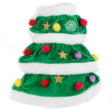 dog christmas tree costume christmas lights decoration