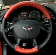 corvette steering wheel cover made of the finest leather free sles