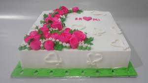 square cake flowers cake square buttercream decorating