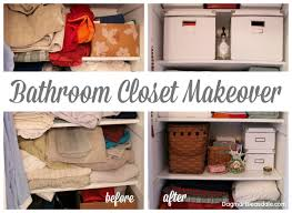 Bathroom Closet Organization Before And After Blue Cottage Bathroom Closet Makeover