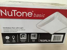 nutone basic exhaust bathroom ventilation fan with light model