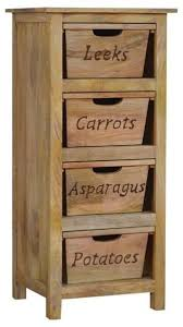 mango wood kitchen cabinets wood kitchen vegetable rack with 4 wooden detailed drawers