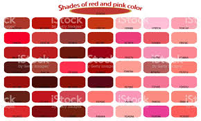 pink color shades shades of red pink colors isolated on white background red and pink