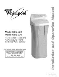whirlpool whes30 troubleshooting guide