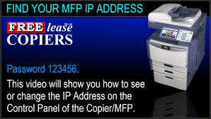 find your ip address on a toshiba mfp mfd youtube