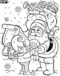 santa clause elf coloring christmas santa