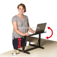 standing desk lifting laptop stand desk table height adjustable