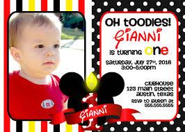 mickey mouse birthday invitations get mickey mouse 1st birthday invitations ideas free printable