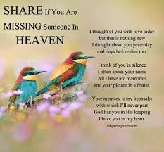 cool if you are missing someone in heaven best quotes