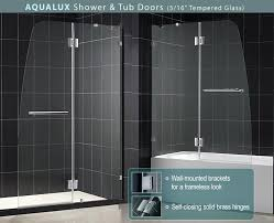 hinged glass shower door aqua plus shower door frameless shower door by dreamline hinged