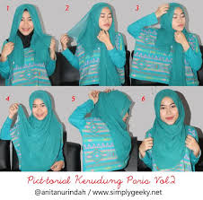 tutorial memakai jilbab paris yang simple ragam jenis dan model kerudung paris yang modis