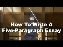 Writing Ninjas  How To Write A Five Paragraph Essay   YouTube