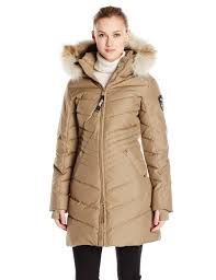 pajar women s brooklyn long down parka with fur hood black large