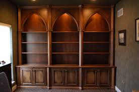 Home Office Bookshelves by Gothic Style But Needs To Be Out Of Lighter Wood To Showcase The