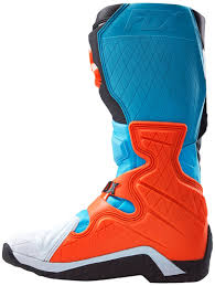 motocross boots fox fox bicycle forks fox comp 8 boots motocross black blue orange